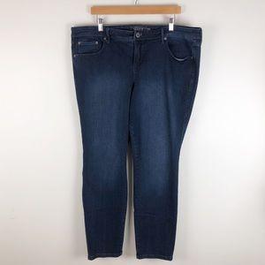 torrid luxe skinny jeans 20R blue 0770